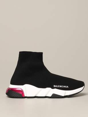 Balenciaga Speed Lt Clear Sole Tricolor Sock Sneakers