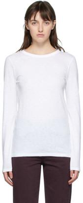 Rag & Bone White The Slub Long Sleeve T-Shirt