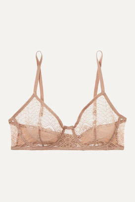 Eres Caraco Lace And Stretch-jersey Underwired Soft-cup Bra - Blush