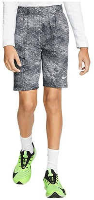 Nike Kids Dry AOP Shorts (Little Kids/Big Kids) (Black/White/White) Boy's Shorts