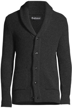 Barbour Button-Front Wool Cardigan