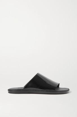 Ann Demeulemeester Crinkled Patent-leather Slides - Black