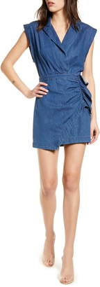 7 For All Mankind Sleeveless Denim Blazer Dress