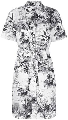 ADAM by Adam Lippes belted printed twill shirt dress
