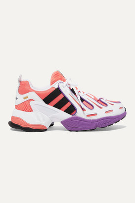 adidas Eqt Gazelle Leather And Mesh Sneakers - Orange