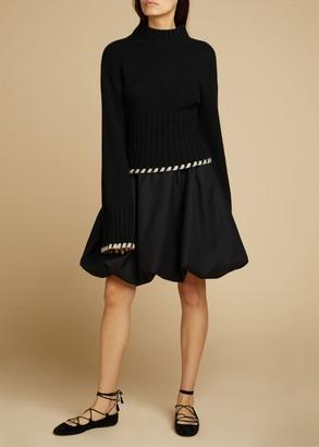 KHAITE The Tanya Skirt in Black