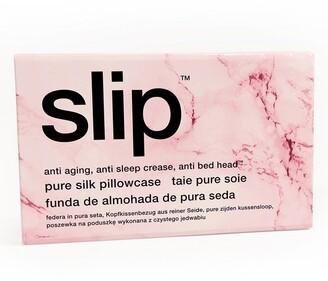Slip Pink Marble Pure Silk Pillowcase