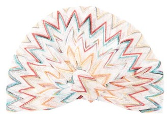 Missoni Mare - Metallic Zig-zag Striped Turban Headband - Womens - Multi