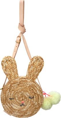 Meri Meri Bunny Woven Straw Crossbody Bag