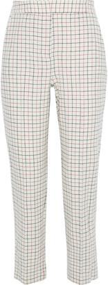 Rag & Bone Poppy Cropped Checked Wool-blend Twill Straight-leg Pants