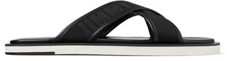 Jimmy Choo PALMO Black Logo Webbing Sandals with Nappa Leather Lining