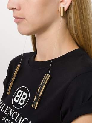 Krizia Pre-Owned Long Corset earrings
