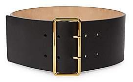 Alexander McQueen Women's Leather Military Belt