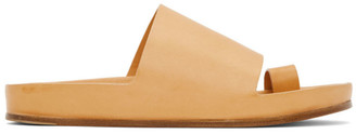 Jil Sander Beige Open Sandals