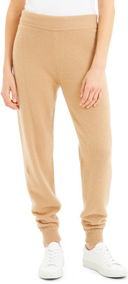 Theory Cashmere Jogger Pants with Whipstitch Trim