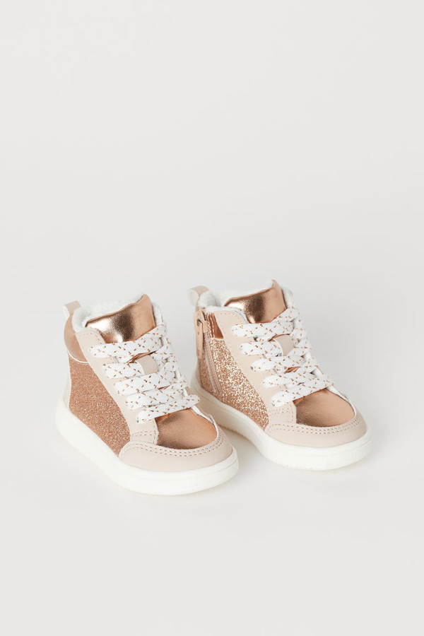 H&M Faux Shearling-lined High Tops - Orange