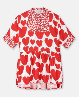 Stella McCartney Hearts Viscose Kimono Dress, Women's