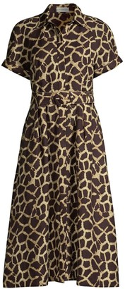 Rebecca Vallance Acacia Giraffe Print Dress