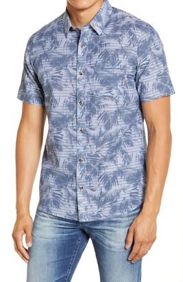 Travis Mathew Chronic Sunshine Slim Fit Short Sleeve Button-Up Shirt