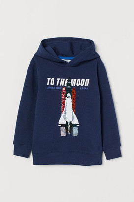 H&M Hoodie with Sequins - Blue