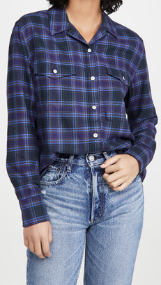 Rag & Bone May Long Sleeve Plaid Shirt