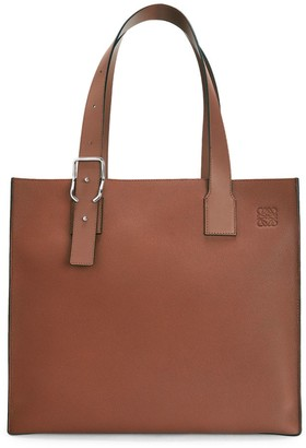 Loewe Buckle Leather Tote