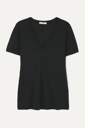 Rag & Bone The Vee Slub Pima Cotton-jersey T-shirt - Black