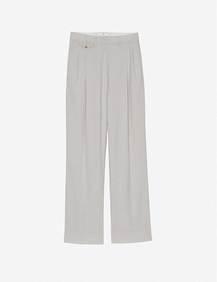 Frankie Shop Pernille high-rise wide stretch-woven trousers