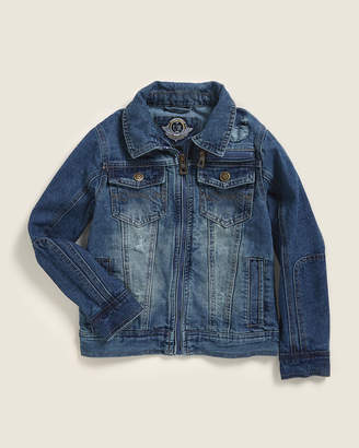 Urban Republic (Boys 4-7) Medium Wash Full-Zip Denim Jacket