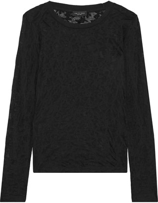 Rag & Bone Valencia Burnout Jersey Top
