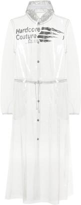 Marine Serre Transparent PU raincoat
