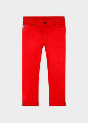 Paul Smith 2-6 Years Red Stretch-Cotton Skinny Jeans
