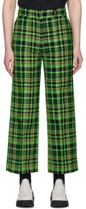 S.R. Studio. La. Ca. S.R. STUDIO. LA. CA. Green Check Suit Trousers