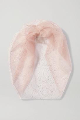 Eugenia Kim Dauphine Glittered Tulle Veil - Pink
