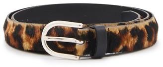 MAISON BOINET Leopard leather belt