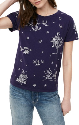 J.Crew Nautical Embroidery Short Sleeve T-Shirt