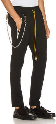 Rhude Traxedo w/ Chain Pant in Black | FWRD