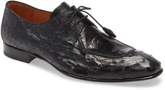 Mezlan Amadeus Ostrich Leather Split Toe Derby