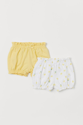 H&M 2-pack Puff Pants - Yellow