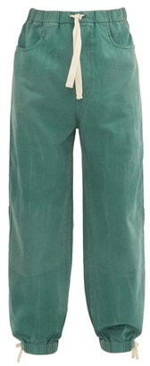 Gucci Oversized Side Stripe Jeans - Green Multi