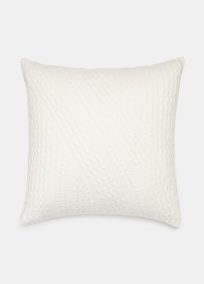 Vince Cable-Knit Merino Pillow