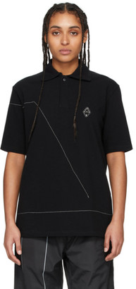 A-Cold-Wall* Black Rhombus Badge Polo