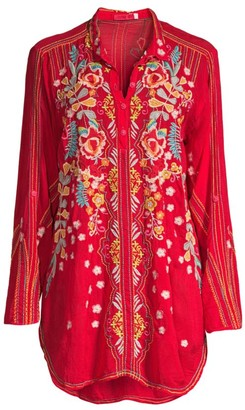 Johnny Was Lyndsey Embroidered Tunic