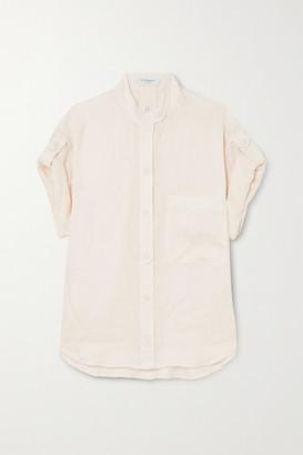Equipment Drace Linen Shirt - White