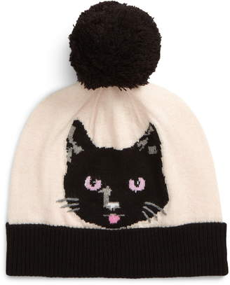 Kate Spade Cat Noir Intarsia Beanie