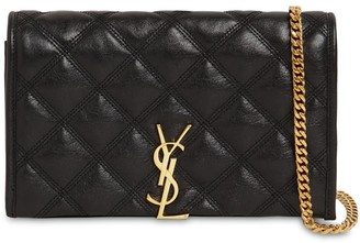Saint Laurent BECKY QUILTED LEATHER CHAIN WALLET BAG