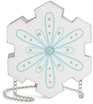 Capelli New York Chunky Glitter Snowflake Crossbody Bag