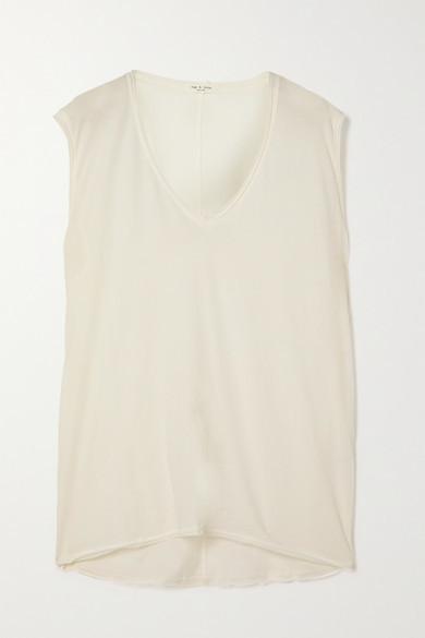 Rag & Bone The Gaia Organic Pima Cotton-jersey Tank - White
