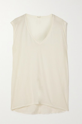 Rag & Bone The Gaia Organic Pima Cotton-jersey Tank - White