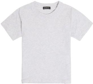 Balenciaga Kids Unisex Cotton-jersey T-shirt - Light Grey